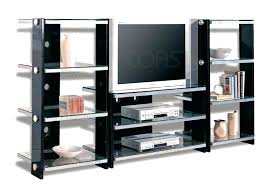 black entertainment center w metal glass with doors ikea