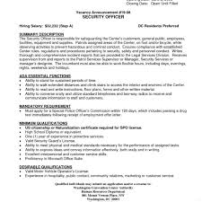 Police Officer Job Description For Resume Security guard job description standart screnshoots chief officer 69
