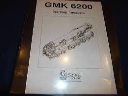 Krupp Kmk 6200 Load Chart Grove Gmk 6200 Crane Operation Operating Catalog Book Manual