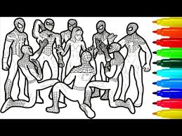 Peter parker's parents were spies working for a secret government organization. Spiderman Team Of Heroes Coloring Pages Spiderman Colouring Pages For Kids Youtube