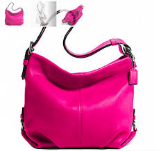 NWT Coach Leather Duffle Shoulder Bag in Fuchsia