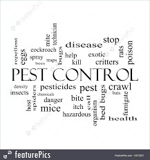 illustration of pest control word cloud concept in black and white pest control word cloud concept in black and white royalty stock illustration