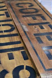 diy tutorial antiquing wood. DIY Antique And Distressed Sign Tutorial Via Lilblueboo.com Diy Antiquing Wood