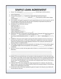 Loan Agreement Forms Free Simple Loan Agreement PDF Template Form Download 4