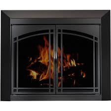 arched glass fireplace doors. The Manassa Masonry Fireplace Door Arched Glass Doors