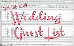Free Wedding Guest List Template. Wedding Guest List Template ...
