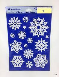 Variante Motiv 1 Motiv 1 Weihnachts Fensterdeko Bilder 20 X 30 Cm Schneeflocke Glitter Zum Kleben Sehr Coole Fensterverzierung Deko