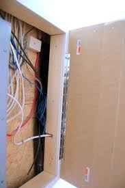 how to hide an electrical panel box for the home basement decor that diy electrical panel cover