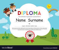 School Certificate Design Psd D0bcf6b Preschool Diploma Certificate Design Template In Psd