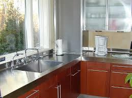 custom stainless steel perimeter countertops