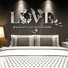 Abnehmbare 3d Acryl Spiegel Wand Aufkleber Vogel Blatt Brief Liebe