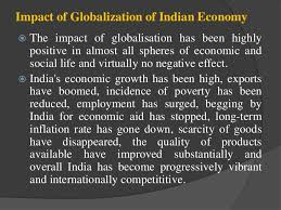 impact of globalisation on n economy