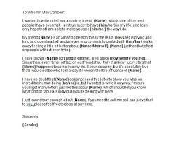 40 Awesome Personal Character Reference Letter Templates
