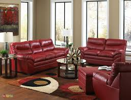 Leather Furniture For Living Room Simple Design Red Leather Living Room Furniture Wondrous