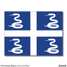 Martinique, flag postcard
