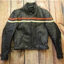 cafe racer leather biker jacket h92t 1