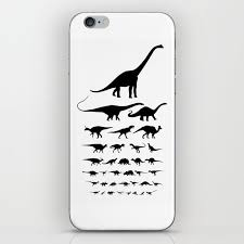 Eye Chart On Phone Dinosaur Eye Chart Monochrome Cretaceous And Jurassic Periods Iphone Skin By Lacydermy