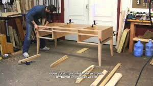 Making Wood Furniture Writing Desk Building Process By Doucette And Wolfe Furniture