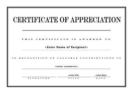 Appreciation Certificates Templates Barca Fontanacountryinn Com
