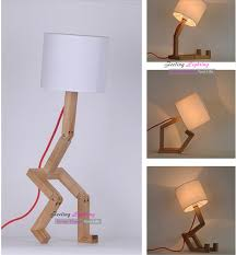 diy wooden bedside lamp design ideas