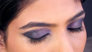 eye makeup tutorial purple blue smokey in