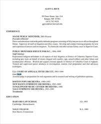 10 Sample Legal Resume Templates Pdf Doc Free