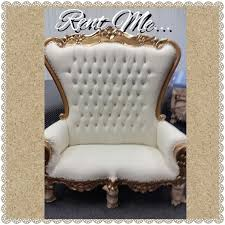 white throne chair hire design ideas