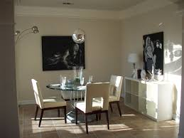 modern small dining room design ideas equipped cool chrome hanging lights over round glass table