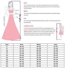Dress Size Chart Measurements Conversion Clothing Sizes Online Charts Collection