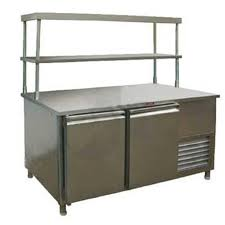 refrigerator table. work table with refrigerator