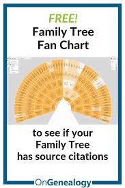 Lds Genealogy Fan Chart Free Is Your Tree Well Sourced A Free Easy Visual Check Using A