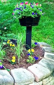 garden post. Step Garden Planter With Post Fix Wooden Outdoor H