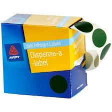 1025228 Avery Dmc24g Dot Dispenser Labels 24mm Green Box