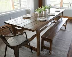 white rustic dining table. The Easiest Rustic Dining Table That You Can Build! Perfect Beginner Farm Plans By Ana-white.com White G