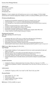 Produce Store Manager Resume Professional Resume Templates