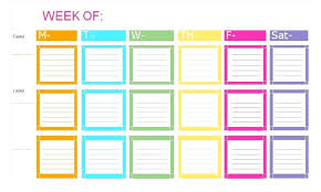 Weekly To Do Calendar Template Weekly Do List Template To Printable Calendar 2018 Lccorp Co