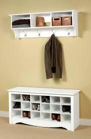 Entryway Storage Bench With Coat Rack Awe Inspiring