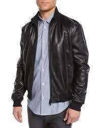 emporio armani men s napa leather er jacket