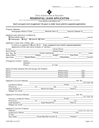 Free Texas Rental Application Form Pdf Come With Texas Residential