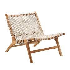 woven rope teak easy chair in 2021