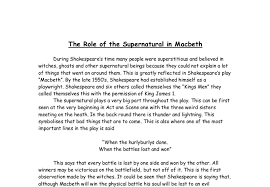 supernatural macbeth essay