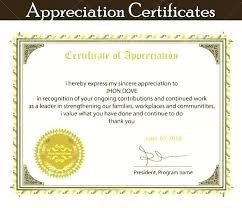 Thank You Certificate Wording Above Certificate Of