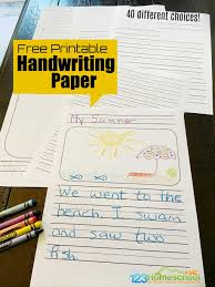 Free, printable lined writing paper for kids. Free Printable Handwriting Paper