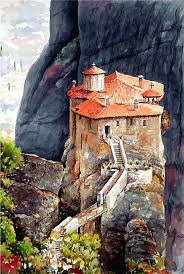 stunning watercolor paintings of greece stunning watercolor watercolor paintings watercolor