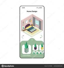 Mobile Home Design App Home Design And Remodeling App Smartphone Interface Vector