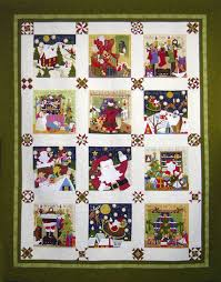 Quilt Inspiration: Our Town Part 3 : Holiday Houses and Decorations & The blocks are done in bright reds, greens, and blues that are spotlighted  by white setting blocks. This appliqued quilt is bursting with energy and  ... Adamdwight.com