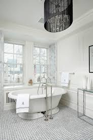drum shade chandelier bathroom victorian with basketweave floor tile drum shade chandelier floor