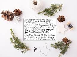 Simple Christmas Card Minimalist Christmas Diy Cards Silent Etsy