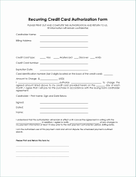 One Time Credit Card Payment Authorization Form Template Automatic