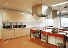 Industrial Kitchen Industrial Kitchen In Special College For Education Stock Photo
